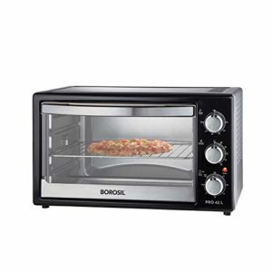 Borosil PRO 42 L OTG, with Motorised Rotisserie and Convection, 2000W, 6 Stage Heat Selection, Black-min