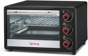 Lifelong 16L 1200-Watt Oven Toaster Griller, Black-min