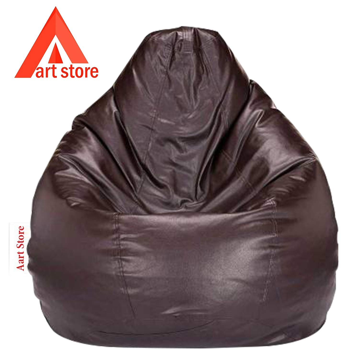 Aart Store Filled Bean Bag with Bean XXXL Size Brown -for Home/Office